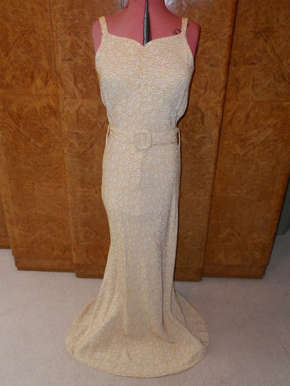 Gold Digger - 1930s Gold 3 piece Evening Gown