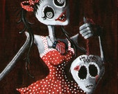 Gothic Art Print from original acrylic painting