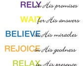 Contemporary Scripture Printables Art Colour or Black and White