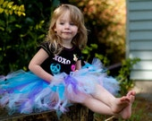 Rainbow Twirly Tutu in purple, blue and pink