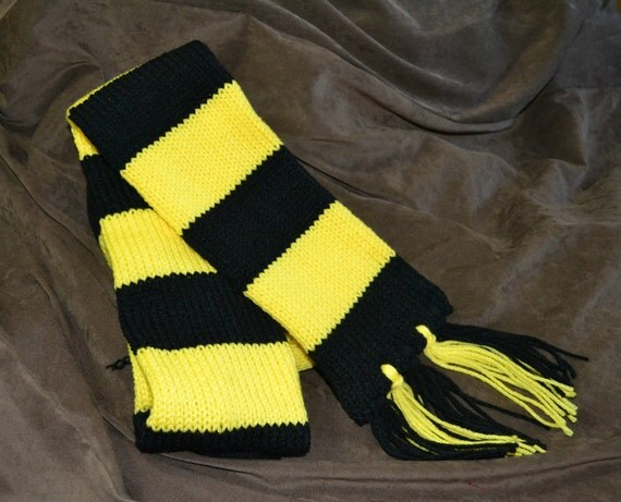 Harry Potter Inspired scarf in Hufflepuff colors