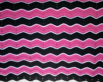 Crochet baby blanket, baby afghan, ripple afghan, chevron, baby throw