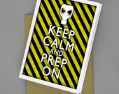 Keep Calm and Prep On Print Your Own Card 8x10 Print DIY Poster Printable jpg pdf Digital File Clip Art Instant Download DP121