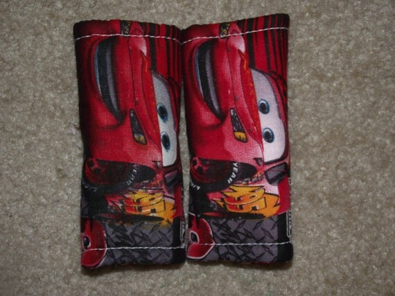 New Handmade infant car seat strap covers - lightening McQueen