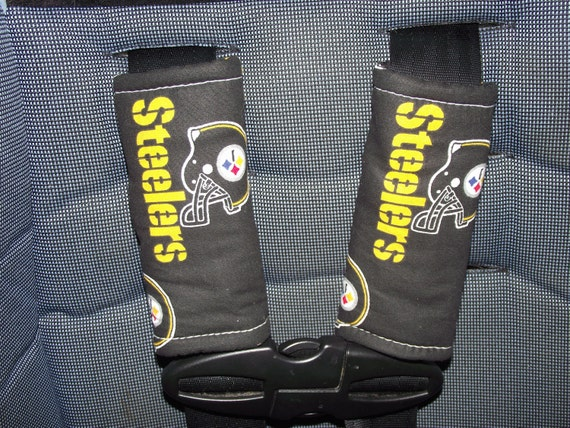 new handmade infant car seat strap covers steelers. Black Bedroom Furniture Sets. Home Design Ideas