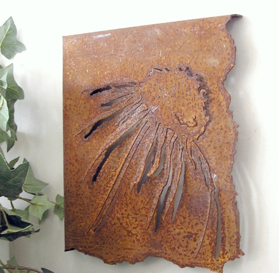Wall Art, Coneflower, Echinacea, Metal Wall art, other styles & colours available