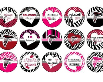 OFF %40 - INSTANT DOWNLOAD - Inspired Bottle Cap Images - Atlanta Falcons - Digital Collage Sheet 1 inch Circles 15 Different Designs