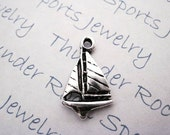Silver Plated Pewter Sailboat Nautical Sea Charms Pendants