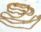 Curb Chain 6x4mm Gold Aluminum 36 inches Craft Supplies Unfinished Chain