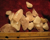 Rock crystal Cabochon - pink rose Quartz raw crystal