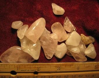 20% off - pink rose Quartz polished crystal
