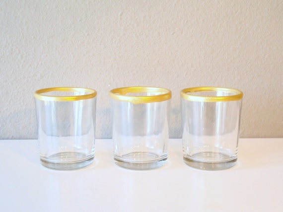 RESERVED: candle holder / gold dipped / home decor / votive / glass / christmas decor
