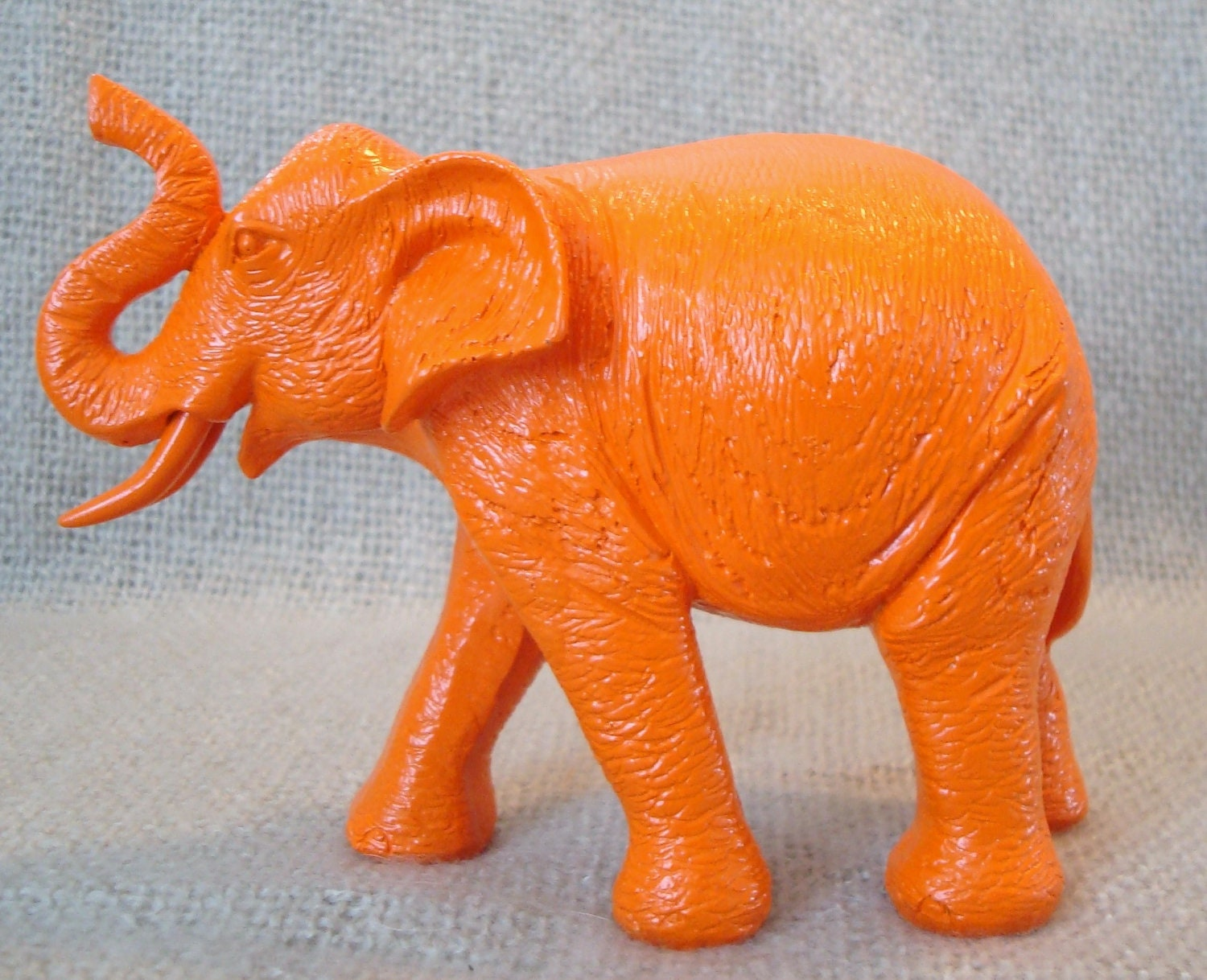 Orange Elephant Neon Nursery Decor Orange Animal Statue