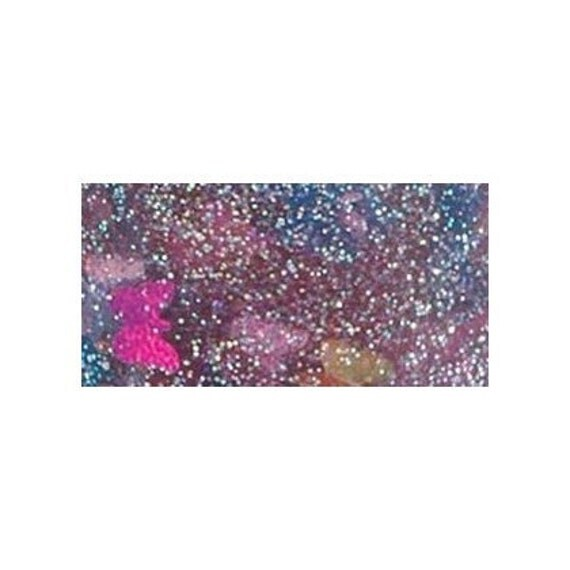 GLITTER GLUE  / Mixed Media /Junk Art Journal / with Butterfly Shapes / Pink Sparkly / Art Supply