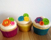 Button Fondant Cupcake Toppers