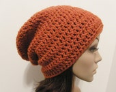 LazyDay Slouch Beanie - Terracotta - made to order