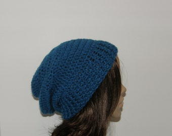 Everyday Slouch Hat - Sapphire - made to order