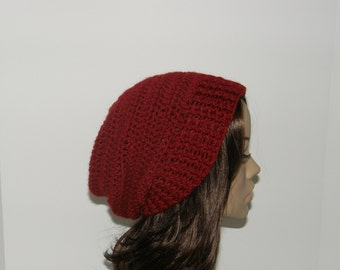 Everyday Slouch Hat - Cranberry - made to order