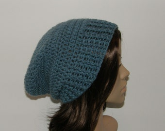 Everyday Slouch Hat - Dusty Blue - made to order