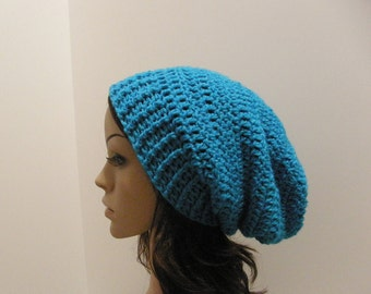 Everyday Extra Slouch Hat - Aqua - made to order - long slouch hat