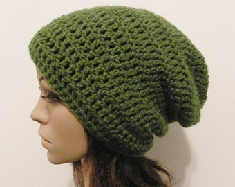 LazyDay Slouch Beanie - Kelly Green - made to order