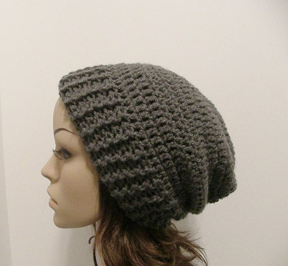 Everyday Slouch Hat - Charcoal Gray - made to order