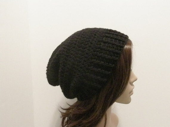 Everyday Slouch Hat - Black - made to order