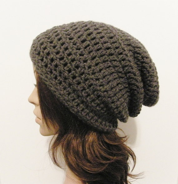 LazyDay Slouch Beanie - Charcoal Gray - made to order