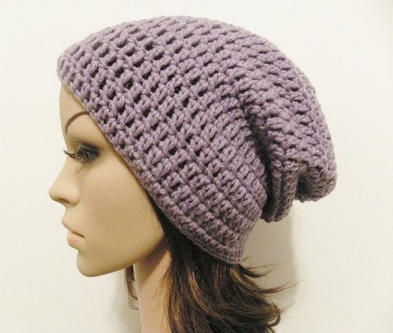 LazyDay Slouch Beanie - Lavender - made to order