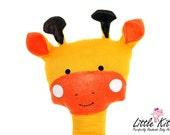 Giraffe Rag Doll Plush -Morgan-  Traditional Colors - Made to Order