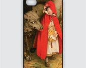 Rubber iPhone 4 Case - Vintage Little Red Riding Hood