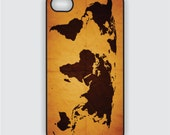 Rubber iPhone 4 Case - World Map