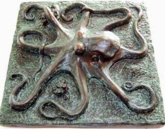 Octopus Octopus Tile Or Plaque 8x8 Kraken Tile