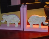 Pair of Elephant Bookends RESERVED for BREA
