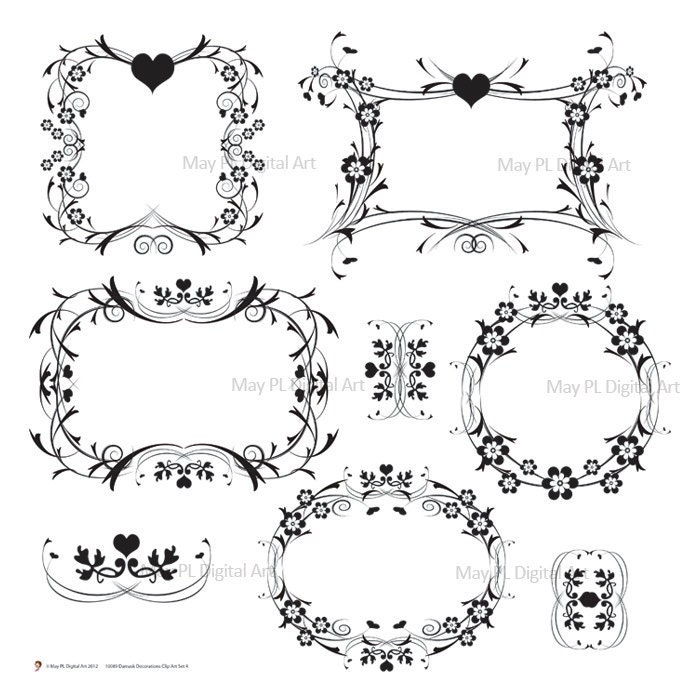 free wedding scrapbook clipart - photo #22