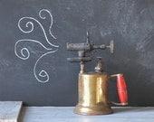 Reserved For Jason Vintage Otto Bernz Torch Blower Industrial Steampunk Brass Red