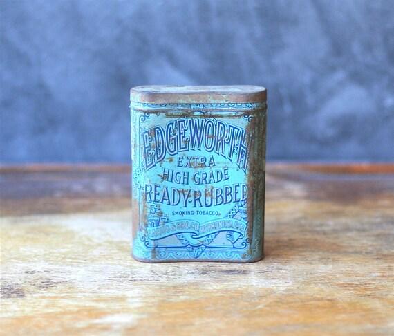 Old Edgeworth Tobacco Tin Distressed