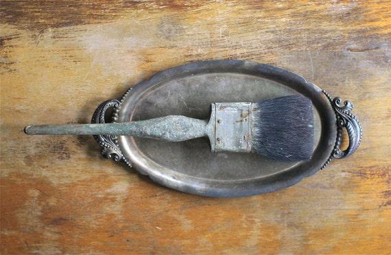 Reserved For Melissa Vintage paint Brush Vulcanized Rubber