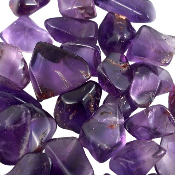 Small Dark Amethyst, 2 Pack, Brazil, Jewelry and Wire Wrapping Supply, February Birthstone, Tumbled
