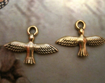 2 BIRDS In FLIGHT CHARMS
