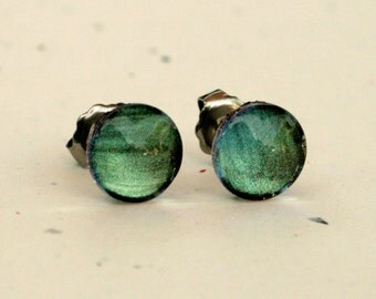 Tundra - Earth Tones -Color Changing - Surgical Steel Stud Earrings