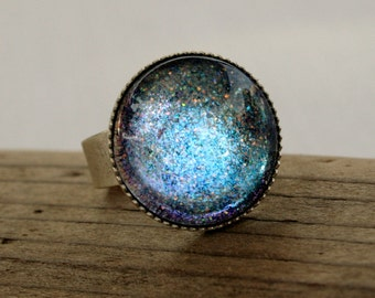 Aurora Antique Silver Ring