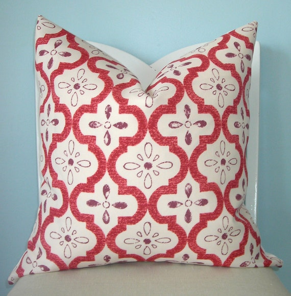 Plum Conservatory Geometric Decorative Pillow Cover 18 x 18