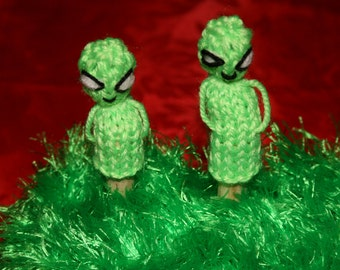 Pair of alien finger puppets