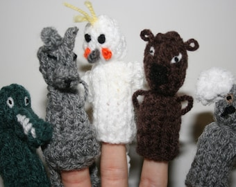 Native Australian Animal Finger Puppets.