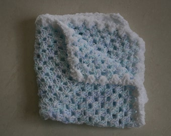 Peaceful Pastels Round Ripple Baby Blanket