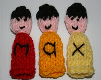 Personalised Finger Puppets 'Max'.