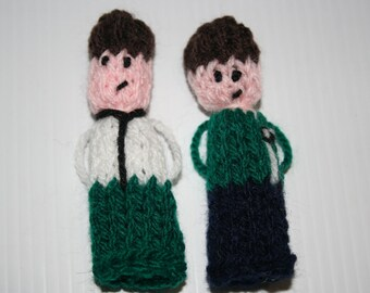 Ben Ten 'Inspired' Finger Puppets, hand knitted.