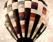 Hot Air Balloon - Riding High - 8x10 photograph - fine art print - hot air balloons - children's art - nursery room print