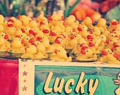 Lucky You - 5x7 photograph - fine art print - rubber ducks - carnival art - vintage photography - maybesparrowsplace